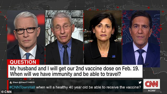 Dr. Fauci warns that getting a COVID-19 vaccine doesn't mean you have a 'free pass to travel'